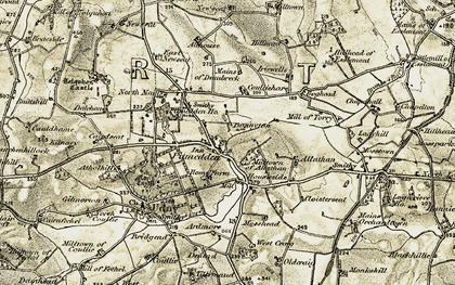 Old map of Yowlie Burn in 1909-1910
