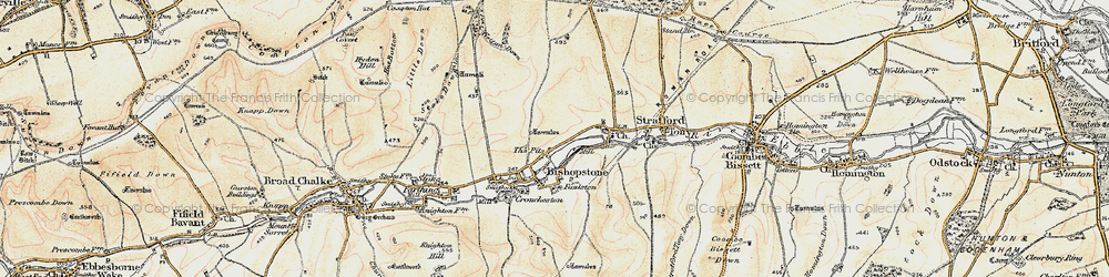 Old map of Windwhistle in 1897-1899
