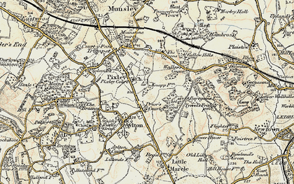 Old map of Ast Wood in 1899-1901
