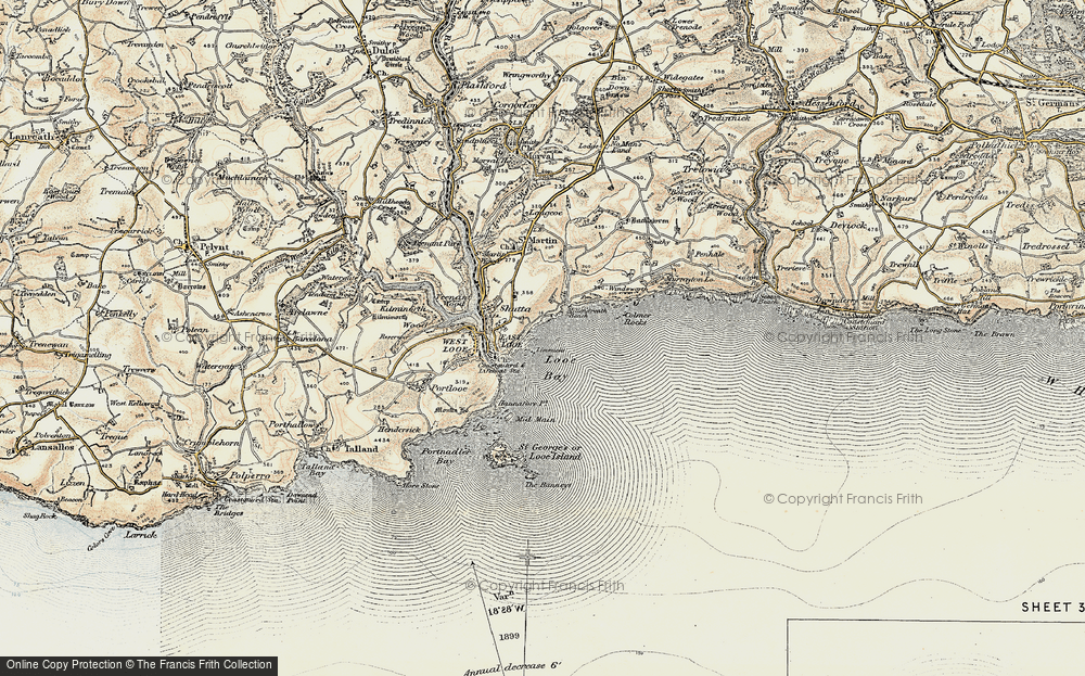 Old Map of Historic Map covering Limmicks in 1900
