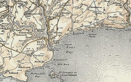 Old map of Limmicks in 1900