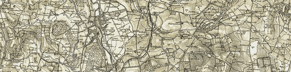 Old map of Whiterashes in 1909-1910