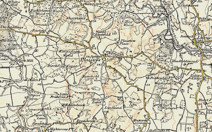 Old map of Plaistow in 1897-1900