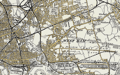 Old map of Plaistow in 1897-1902