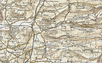 Old map of Allt Dderw in 1901-1903