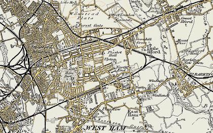 Old map of Plashet in 1897-1902