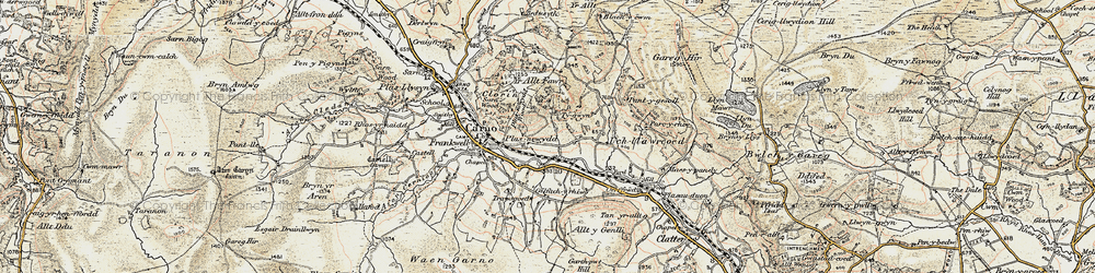 Old map of Wgi-fawr in 1902-1903