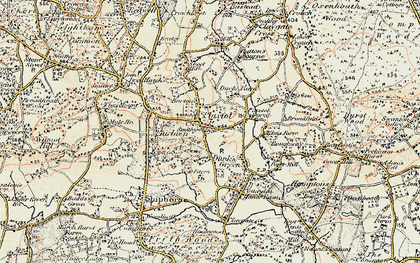Old map of Plaxtol in 1897-1898