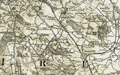 Old map of Whitehill in 1904-1907