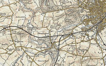 Old map of Pleasington in 1903