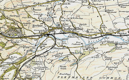 Old map of Todhillwood Fell in 1901-1904
