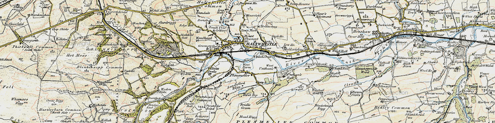 Old map of West Unthank in 1901-1904