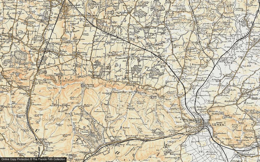 Old Map of Plumpton, 1898 in 1898