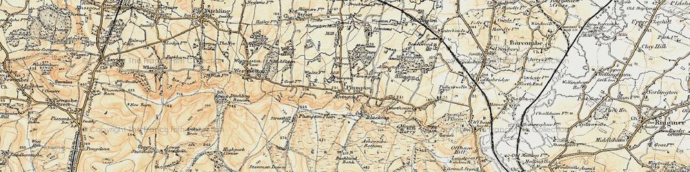 Old map of Plumpton in 1898