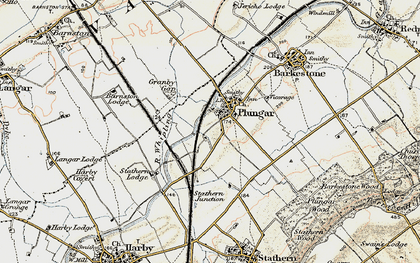 Old map of Langar Airfield in 1902-1903