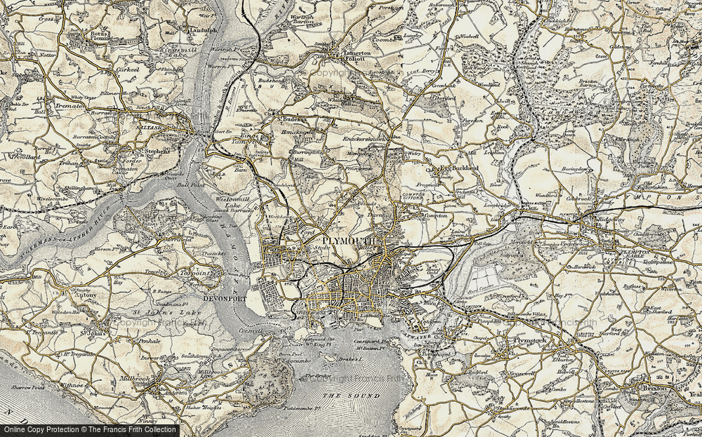 Map Of Plymouth Map of Plymouth, 1899 1900   Francis Frith Map Of Plymouth