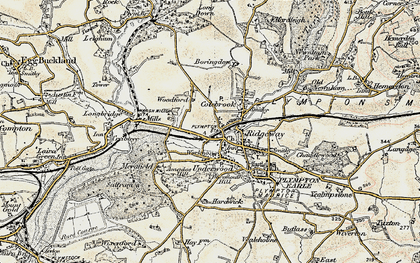 Old map of Plympton in 1899-1900