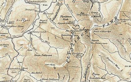 Old map of Banc Llechwedd-mawr in 1902-1903