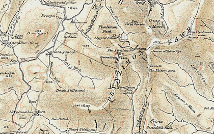 Old map of Yr Ochrydd in 1902-1903