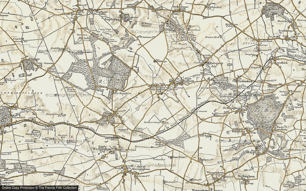 Old Map of Pockthorpe, 1901-1902 in 1901-1902