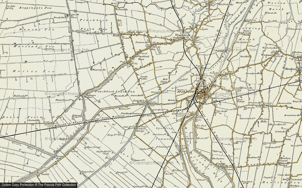 Old Map of Historic Map covering Lindum Ho in 1901-1903