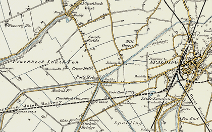 Old map of Lindum Ho in 1901-1903