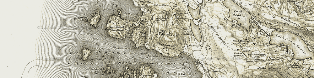 Old map of Altandhu in 1909-1910