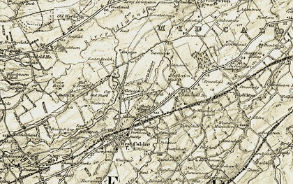 Old map of Limefield Ho in 1904-1905