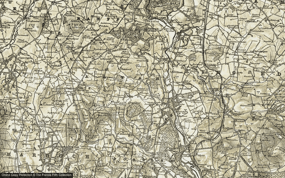 Old Map of Historic Map covering Bagrae in 1910