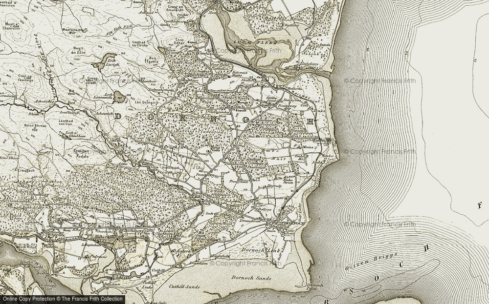 Old Map of Historic Map covering Balnapolaig in 1911-1912