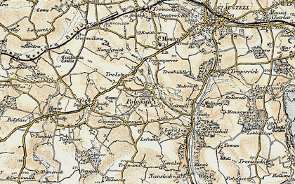 Old map of Polgooth in 1900