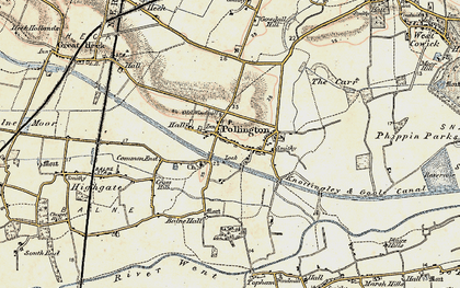Old map of Balne Hall in 1903