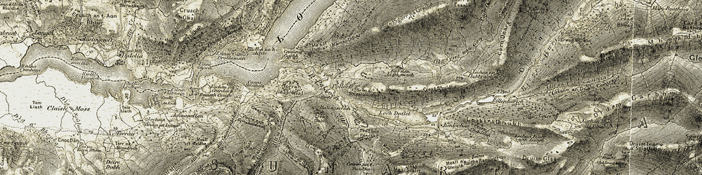 Old map of Allt Coire an t-Suidhe in 1906-1908
