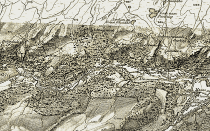 Old map of Achtemarack in 1908-1912