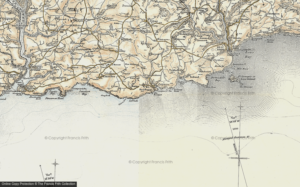 Old Map of Historic Map covering Larrick in 1900