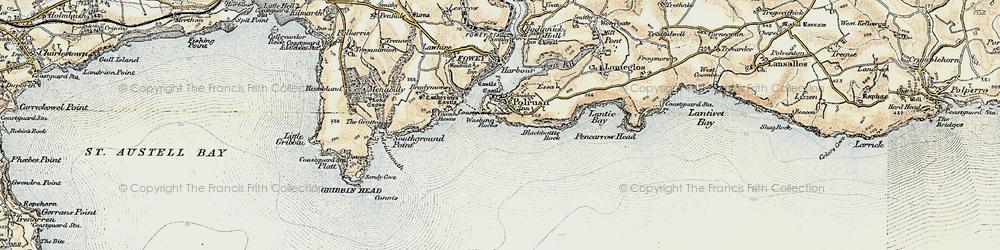 Old map of Polruan in 1900