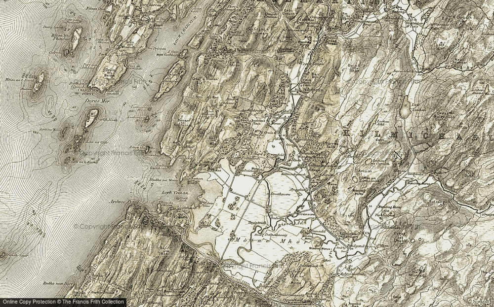 Old Map of Historic Map covering Bàc Chrom in 1906-1907