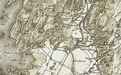 Old map of Bàc Chrom in 1906-1907
