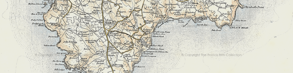 Old map of Poltesco in 1900