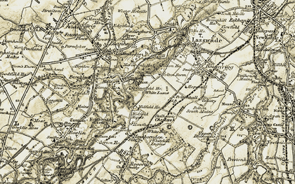 Old map of Hawthornden in 1903-1904