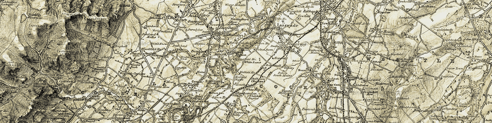 Old map of White Bog in 1903-1904