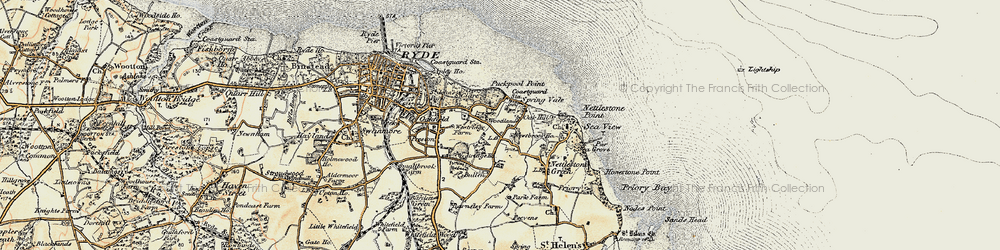 Old map of Woodlands Vale in 1899