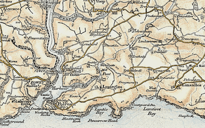 Old map of Pont in 1900