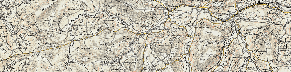 Old map of Tircapel in 1900-1901