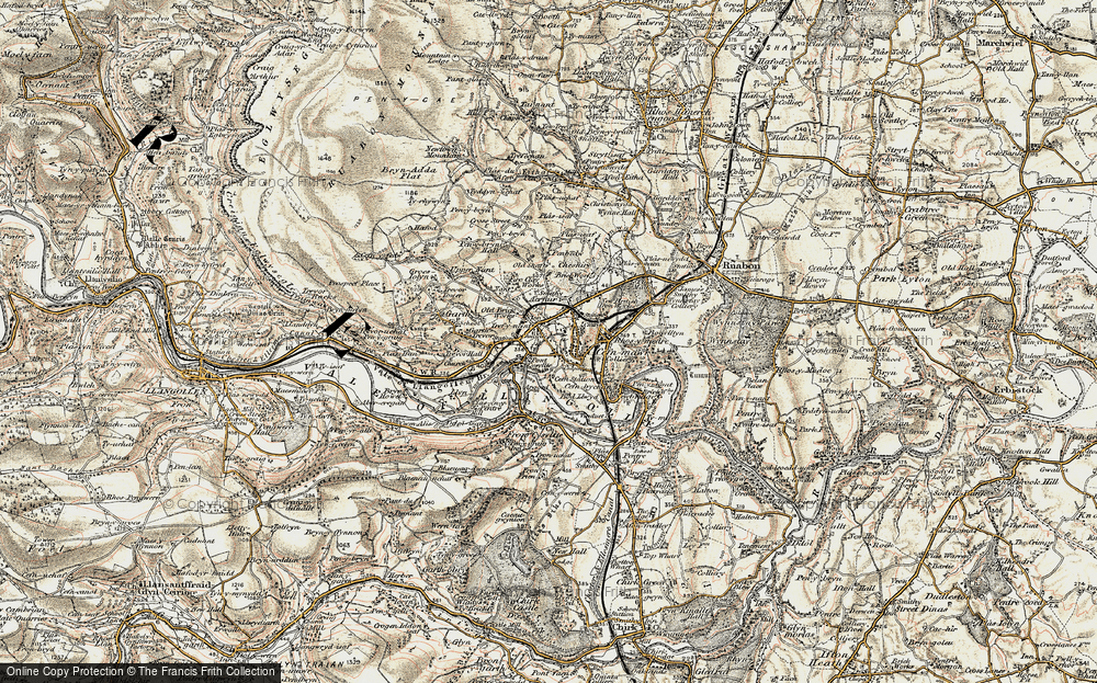 Old Map of Pont Cysyllte, 1902-1903 in 1902-1903