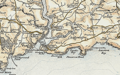 Old map of Pont Pill in 1900