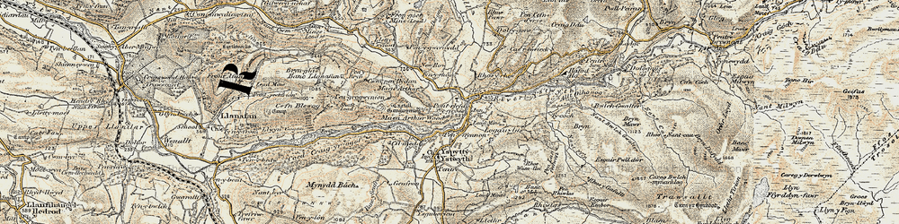 Old map of Pont-rhyd-y-groes in 1901-1903