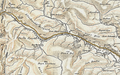 Old map of Afon Tarennig in 1901-1903