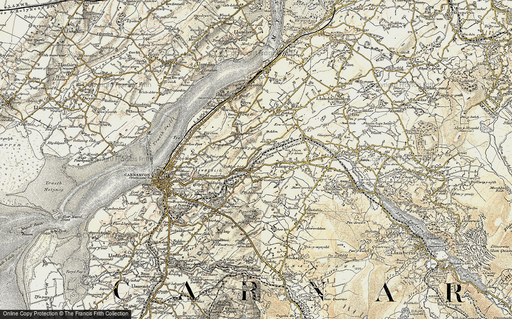 Old Map of Historic Map covering Afon Seiont in 1903-1910