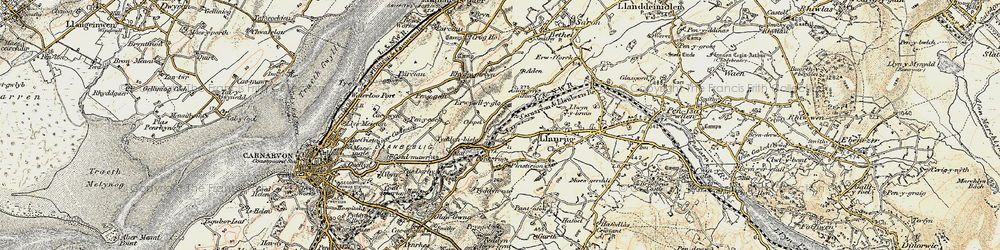 Old map of Aden in 1903-1910